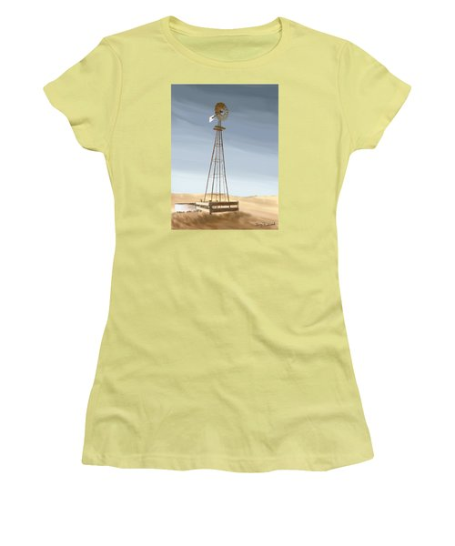 Windmill Women's T-Shirt (Junior Cut) by Terry Frederick