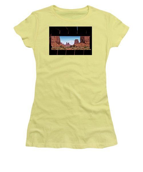 Window Into Monument Valley Women's T-Shirt (Junior Cut) by Eduard Moldoveanu