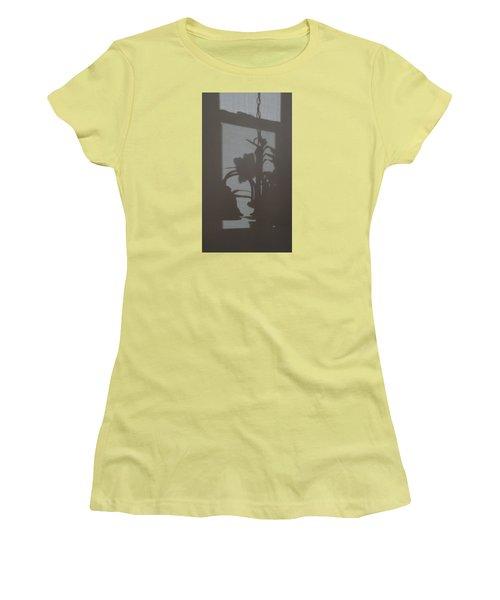 Women's T-Shirt (Junior Cut) featuring the photograph Window Shadows 1 by Don Koester