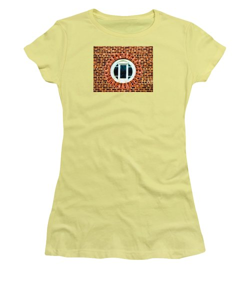 Women's T-Shirt (Junior Cut) featuring the photograph Window Shapes In And Around by Gary Slawsky