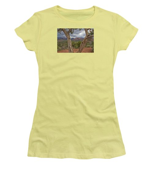 Women's T-Shirt (Junior Cut) featuring the photograph Window View by Tom Kelly