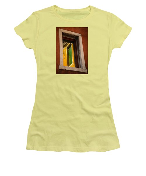 Window Window Women's T-Shirt (Junior Cut) by Kathleen Scanlan
