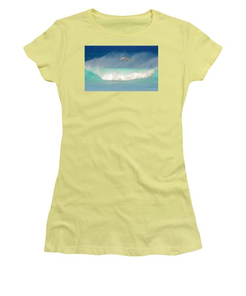 Windsurfer In The Spray Women's T-Shirt (Athletic Fit)