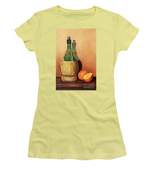 Wine And Oranges Women's T-Shirt (Junior Cut) by Pattie Calfy