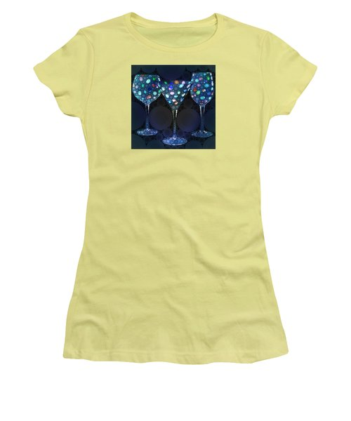 Wine Glass Art-4 Women's T-Shirt (Athletic Fit)