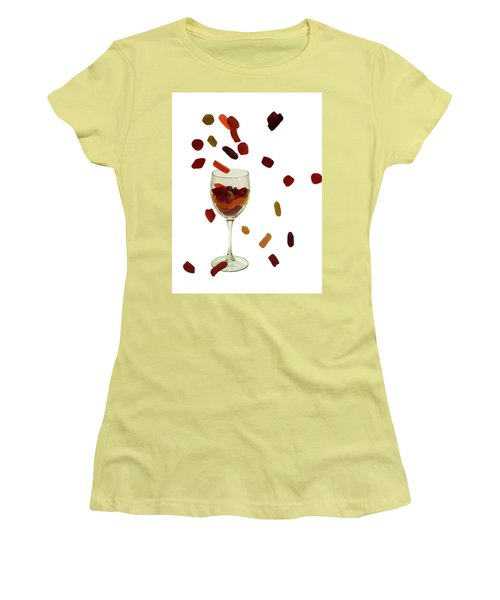 Women's T-Shirt (Junior Cut) featuring the photograph Wine Gums Sweets by David French