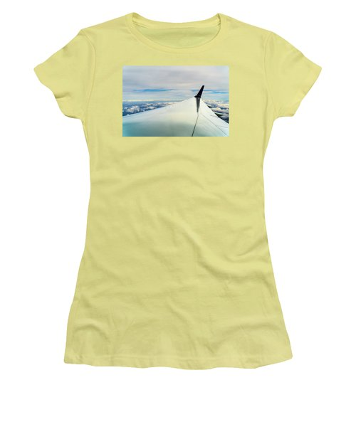Wing And Clouds Women's T-Shirt (Athletic Fit)