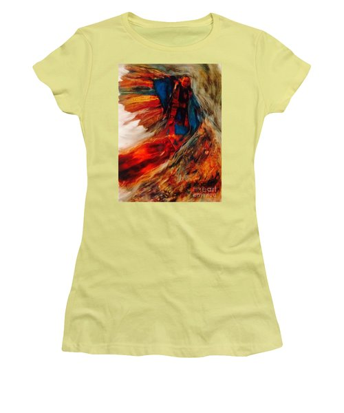 Women's T-Shirt (Junior Cut) featuring the painting Winged Ones by FeatherStone Studio Julie A Miller