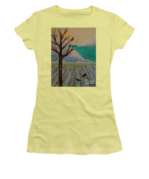 Winter Crows Women's T-Shirt (Junior Cut) by Jeanette French