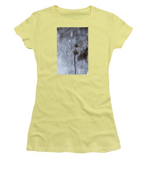 Winter Flower Women's T-Shirt (Junior Cut) by Yumi Johnson
