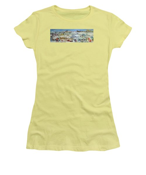 Winter Goose Women's T-Shirt (Junior Cut) by Judith Espinoza