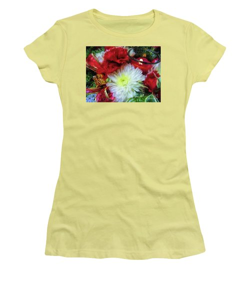 Women's T-Shirt (Athletic Fit) featuring the photograph Winter Holiday  by Peggy Hughes