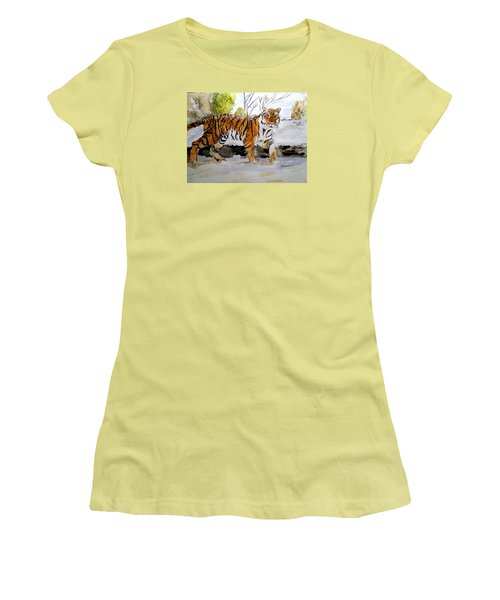 Winter In The Zoo Women's T-Shirt (Athletic Fit)