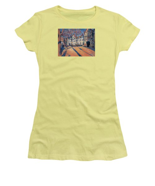 Winter Light At The Our Lady Square In Maastricht Women's T-Shirt (Junior Cut) by Nop Briex