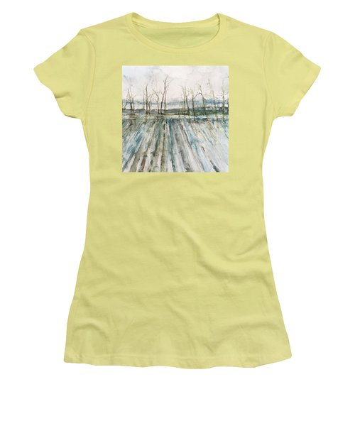 Winter On The Delta Women's T-Shirt (Junior Cut) by Robin Miller-Bookhout