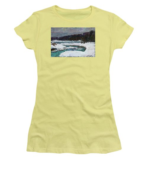 Winter River Women's T-Shirt (Athletic Fit)