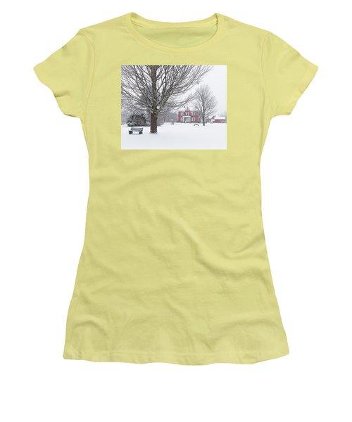 Winter Scene Women's T-Shirt (Junior Cut) by Tim Kirchoff