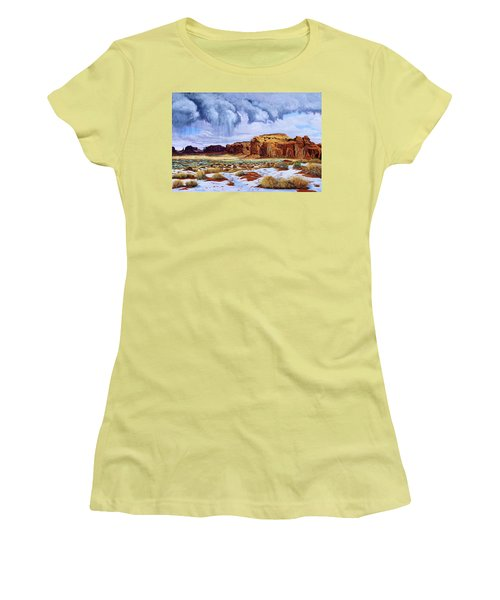 Winter Storm In Mystery Valley Women's T-Shirt (Athletic Fit)