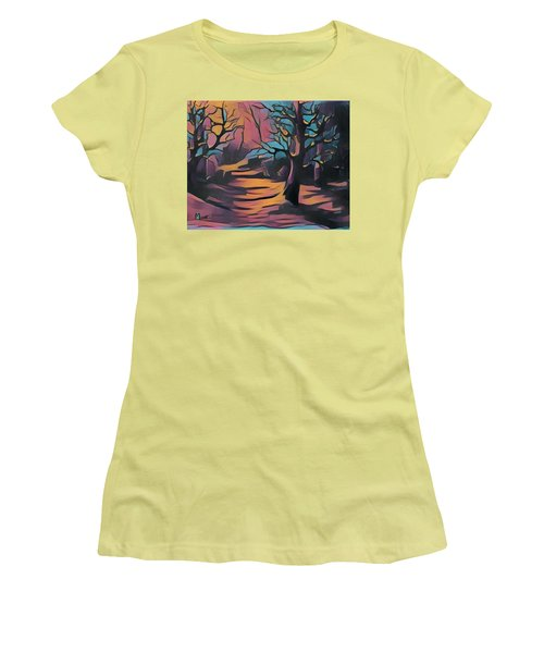 Winter Sunset Digital  Women's T-Shirt (Athletic Fit)
