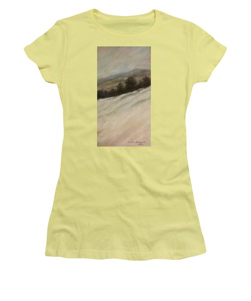 Women's T-Shirt (Junior Cut) featuring the painting Winter Twilight by Kathleen McDermott