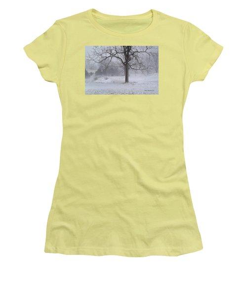 Winter Walnut Women's T-Shirt (Junior Cut) by Denise Romano