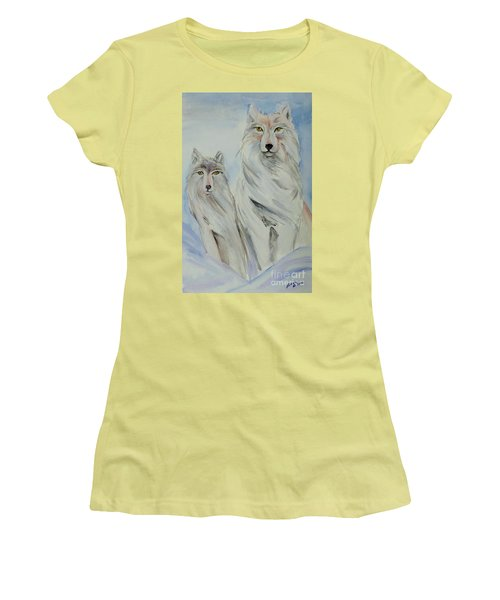 Winter Wolves Women's T-Shirt (Athletic Fit)
