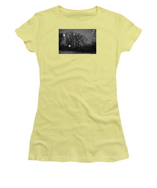 Women's T-Shirt (Junior Cut) featuring the photograph Winter Wonderland by Annette Berglund