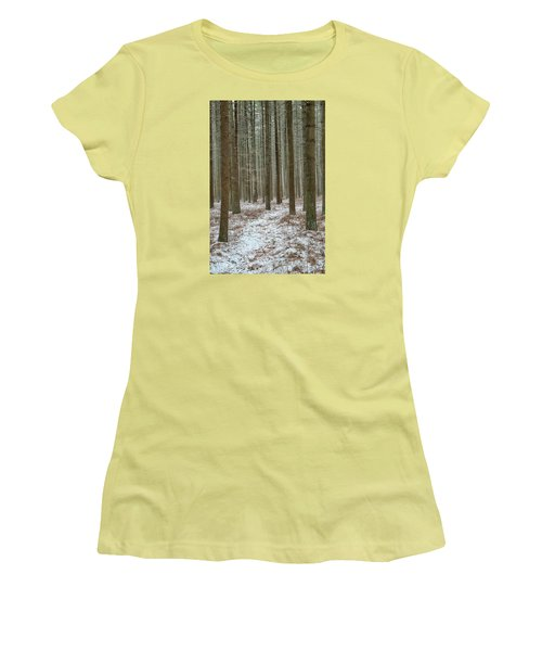 Winter's Trail Women's T-Shirt (Athletic Fit)