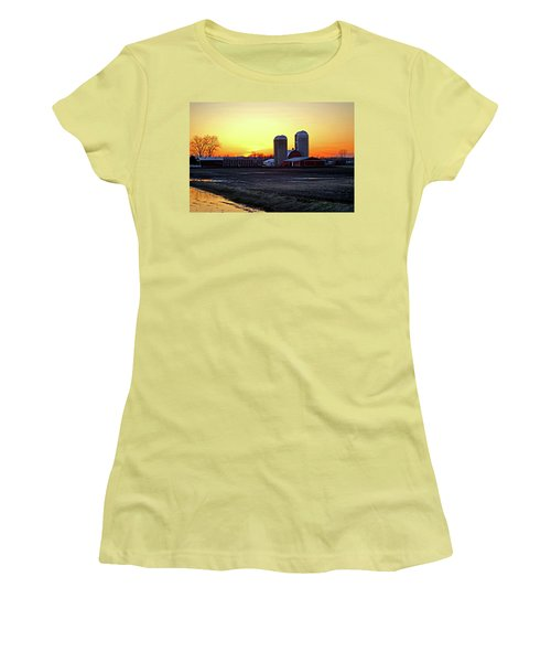 Women's T-Shirt (Junior Cut) featuring the photograph Wisconsin At Sunset by Jean Haynes