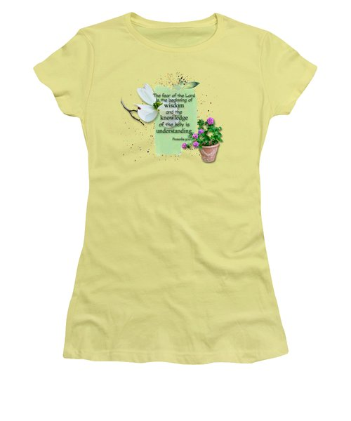 Wisdom And Knowledge Women's T-Shirt (Junior Cut) by Larry Bishop