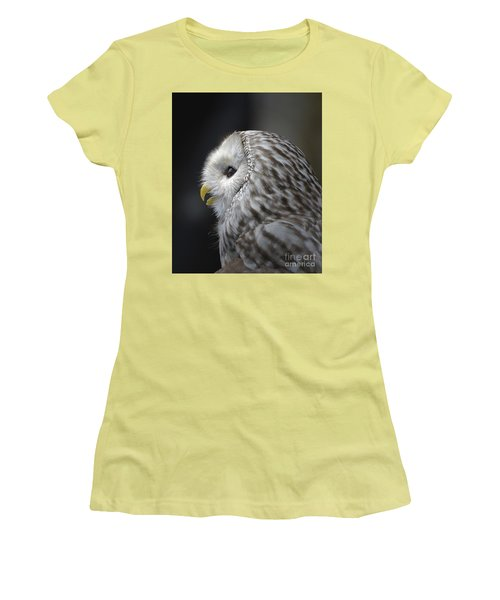 Wise Old Owl Women's T-Shirt (Junior Cut) by Kathy Baccari