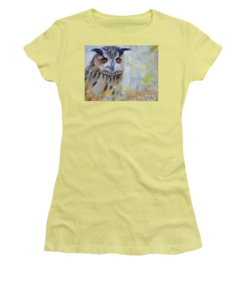 Wise Owl Women's T-Shirt (Athletic Fit)