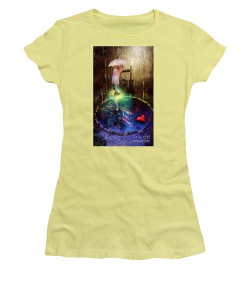 Wishing Well Women's T-Shirt (Junior Cut) by Mo T