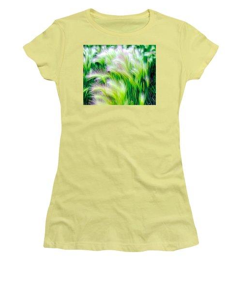 Wispy Green Women's T-Shirt (Athletic Fit)