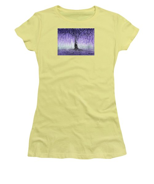 Wisteria Dream Women's T-Shirt (Junior Cut) by Kume Bryant