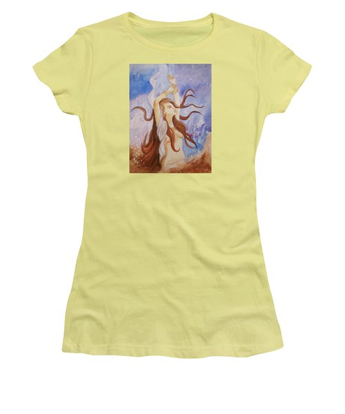Woman Unleashed Women's T-Shirt (Junior Cut) by Teresa Beyer