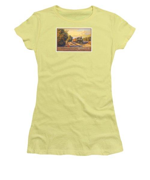 Wonderful California Women's T-Shirt (Junior Cut) by Nostalgic Prints