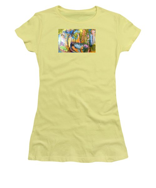 Wondering In The Garden Women's T-Shirt (Junior Cut) by Judith Desrosiers