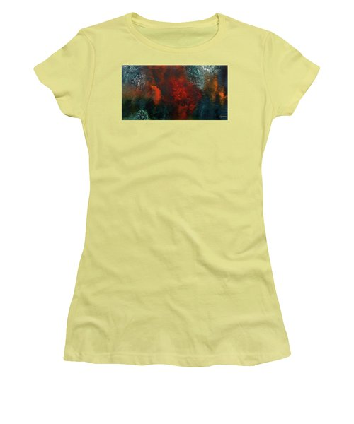 Women's T-Shirt (Junior Cut) featuring the painting Wonderland by Carmen Guedez