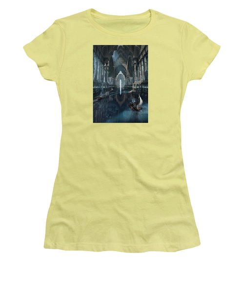 Women's T-Shirt (Junior Cut) featuring the digital art Wonders The Canal Of Isfahan by Te Hu