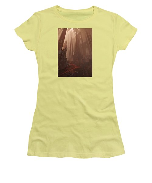 Women's T-Shirt (Junior Cut) featuring the digital art Wonders_temple Of Artmeis by Te Hu
