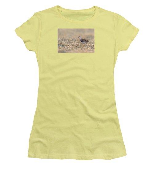 Women's T-Shirt (Junior Cut) featuring the photograph Wood Sandpiper by Jivko Nakev