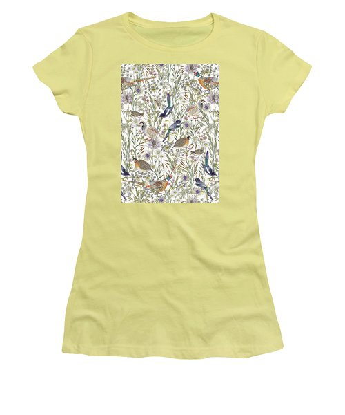 Woodland Edge Birds Women's T-Shirt (Athletic Fit)