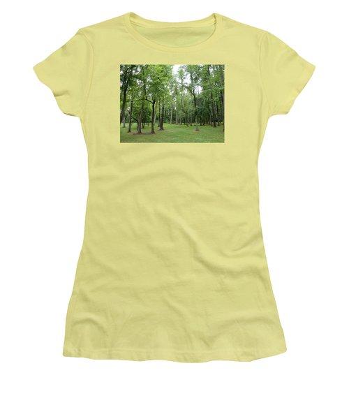 Woods At Lake Redman Women's T-Shirt (Junior Cut) by Donald C Morgan