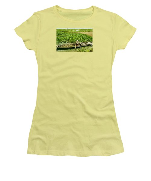Women's T-Shirt (Junior Cut) featuring the photograph Work Hard With Smile by Arik S Mintorogo