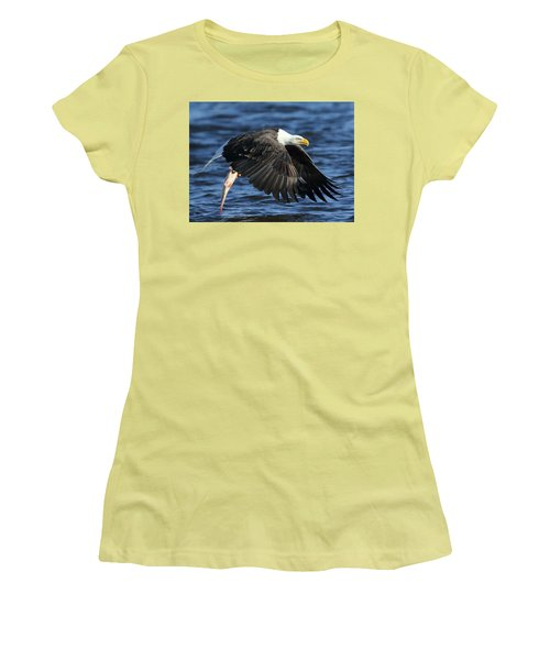 Women's T-Shirt (Junior Cut) featuring the photograph Working Hard For Dinner by Coby Cooper