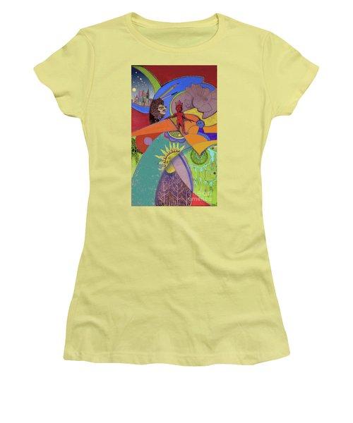 World View Women's T-Shirt (Junior Cut) by Carol Jacobs