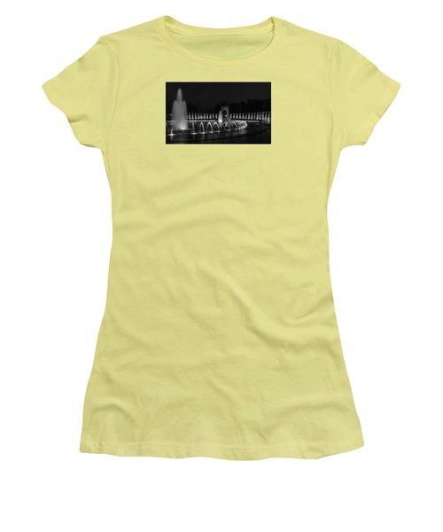 World War II Memorial Women's T-Shirt (Junior Cut) by Ed Clark