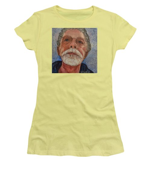 Women's T-Shirt (Junior Cut) featuring the painting Wounds That Don't Heal by Ron Richard Baviello