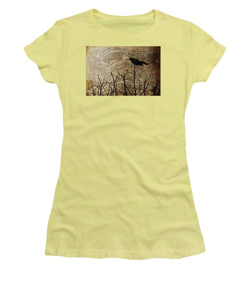 Women's T-Shirt (Junior Cut) featuring the photograph Written On The Wind by Jan Amiss Photography